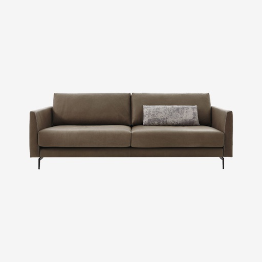 [11136] Lionel L Shape Sofa (Grey)